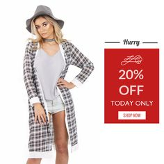 Today Only! 20% OFF this item.  Follow us on Pinterest to be the first to see our exciting Daily Deals. Today's Product: Monochrome Tartan Print Lightweight Chiffon Longline Open Cardigan Jacket Buy now: https://small.bz/AAeyJG1 #musthave #loveit #instacool #shop #shopping #onlineshopping #instashop #instagood #instafollow #photooftheday #picoftheday #love #OTstores #smallbiz #sale #dailydeal #dealoftheday #todayonly #instadaily