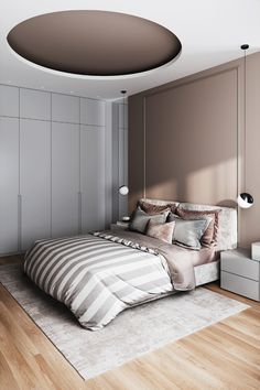 The absolute most bedrooms which can be inspiring all over the globe. Bed room design in nearly every design, to get the decor that is correct. Bedroom False Ceiling Design, Luxury Bedroom Design, Modern Master Bedroom, Home Room Design, Master Bedroom Design, Contemporary Bedroom, Home Decor Bedroom, Interior Design Wall, Modern Luxury Bedroom