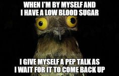 When low blood sugar hot, especially in the middle of the night.