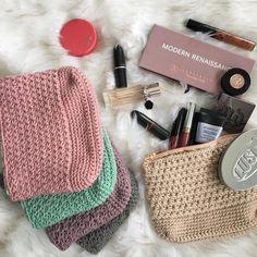 Crochet makeup bags