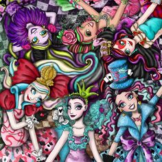 Following my dreams : Here is my drawing in honor of Ever After High:...