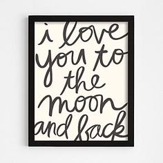love you to the moon + back wall art from RedEnvelope.com