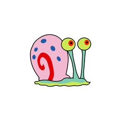Gary the Snail - SpongeBob SquarePants Wiki ❤ liked on Polyvore featuring home, home decor, spongebob, other stuff and pictures