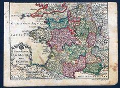 1760 France Frankreich Carte Map Karte Lobeck