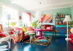 Ideas para decoración multicolor