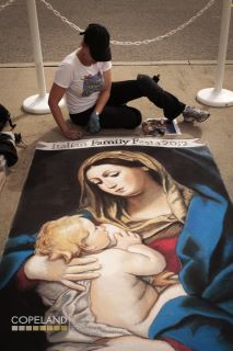 Jennifer Chaparro -  Madonnari Featured Artist - Italian Family Festa 2012