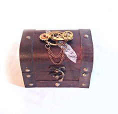 Small Steampunk Treasure Chest by MelsMakeBelieve on Etsy