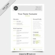 Free Professional Html  Css CvResume Templates  Template Cv