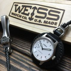 Weiss Watch! Los Angeles! Field Watch Field Watches, Vintage Pocket Watch, Everyday Carry, Leather Working, Project Ideas, Accessories, Leather, Watch Straps, Wristwatches
