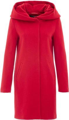 52633fa8b1cdb2 Hallhuber Flat Woven Fabric Wool Coat Isabella
