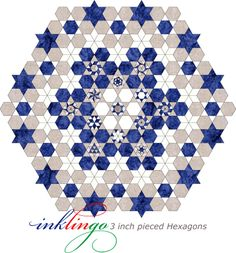 Inklingo Setting for Pieced Hexagons on the All About Inklingo blog
