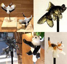 As esculturas/pirulitos do japonês Shinri Tezuka são feitas de açúcar;