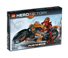 LEGO® Hero Factory Furno Bike 7158 by LEGO. $75.99. Rookie team leader. Includes William Furno. Dual Plasma Blasters. 165 LEGO pieces. Roar into action with the Furno Bike. From the Manufacturer                Equipped with a powerful engine, front steering and dual Plasma Blasters, the Furno Bike gives rookie team leader William Furno the speed and power he needs to complete even the toughest missions.  Includes William Furno!                                    ...