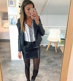 🔥 Instagram: sam_nounette Ootd, Leather Skirt, Dress Up, Instagram, Skirts, Outfits, Play, Clothes, Style