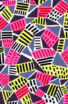 #pattern Triangles and Dashes - Sarah Bagshaw