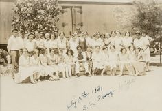 Group portrait of the San Fernando Heights Orange Association employees, July 18, 1931. San Fernando Valley Historical Society. San Fernando Valley History Digital Library.