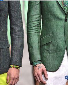 Linen Blazers. Men's fashion. Green