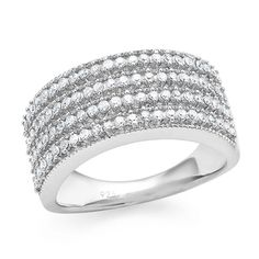 0.50 Carat Diamond Ring in Sterling Silver #Netaya