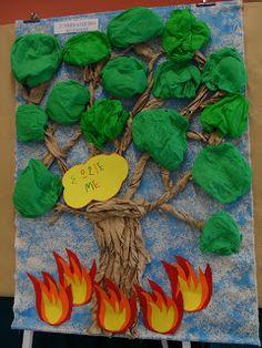 ΝΙΚΟΥ ΒΑΣΙΛΙΚΗ ΝΗΠΙΑΓΩΓΕΙΟ ΔΗΜΙΟΥΡΓΙΑΣ: Ιούνιος 2013 Craft Activities For Kids, Kindergarten Activities, Games For Kids, Crafts For Kids, Arts And Crafts, Fire Crafts, School Displays, Forest Theme, Environmental Education