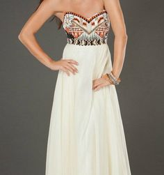 Jovani embellished bodice gown.  #boho #hippie #wedding