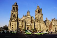 Mexico City, Mexico -  La Catedral de Guadalupe.  Always filled with the faithful and travellers, this church is located in the center of the city. By the way, this church was erected by Montezuma over an Aztec temple.  Most of the Capital is built directly over the ancient Aztec City called Tenochtitlan.