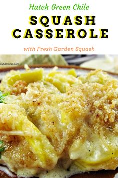 We are pulling out all our Summer Squash Recipes so we can make the most of our garden right now. One of our favorites is this Squash Casserole with Green Chile. Summer Squash Casserole, Yellow Squash Casserole, Vegetable Casserole, Healthy Squash Casserole, Side Dish Recipes, Veggie Recipes, Gourmet Recipes, Vegetarian Recipes, Cooking Recipes