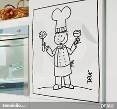 Give your kitchen a special atmosphere! #decal #sticker #kitchen #cook #DIY #art #comic #decoration