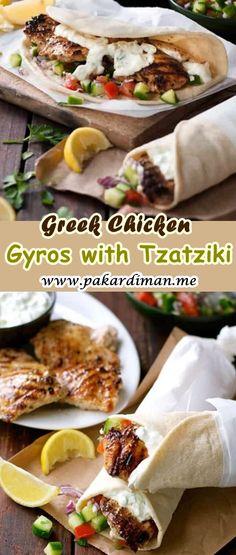Cooking Master: Greek Chicken Gyros with Tzatziki Chicken Gyro Recipe, Chicken Gyros, Teriyaki Chicken, Recipes Dinner, Pasta Recipes, Vegan Recipes, Easy Soft Flatbread Recipe, Greek Gyros, Mediterranean Chicken