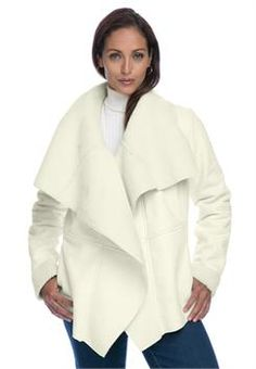 Plus Size Sherpa Jacket