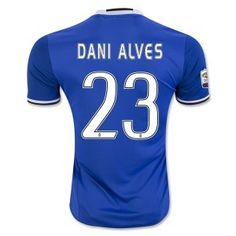 16-17 Juventus Football Shirt Away Blue Replica Cheap #23 DANI ALVES Jersey [F851]