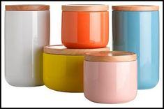 Kitchen:Orange Kitchen Storage Jars Orange Kitchen Storage Jars Photo