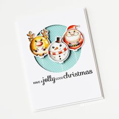 Measurements (all approximate): Santa - x Reindeer - x Snowman - x Robin - x Tree - x Pudding - x Star - x String - x Sewing Crafts, Diy Crafts, White Gel Pen, Santa Baby, Photo Craft, Metal Stamping, Cool Cards, Clear Stamps, Pattern Paper