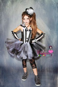 Jack Skellington inspired tutu dress by SofiasCoutureDesigns