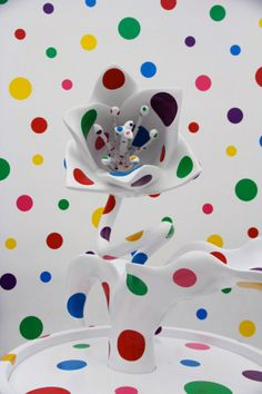 This psychedelic garden is part of A Dream I Dreamed, a touring exhibition of work by iconic Japanese artist Yayoi Kusama.  Read more: http://blog.gessato.com/category/filterscat/arts/#ixzz31Kht9D7n