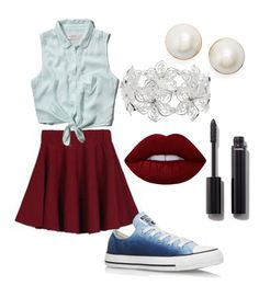 """""""Untitled #48"""" by sardine04 on Polyvore featuring Abercrombie & Fitch, Converse, Kate Spade, M&Co, Chanel and Lime Crime"""