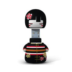 USB-Stick Kokeshi Yuna 4 GB jetzt auf Fab.
