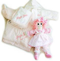 Personalized baby gift basket cream kaloo sofa cream little personalized baby gift basket white velour terrycloth bathrobe pink little giraffe luxe crib blanket negle Gallery