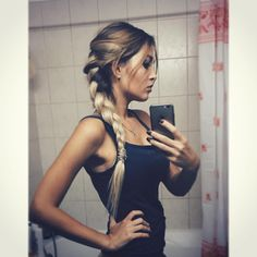 #home #hair #style #selfie #mirror #night first time I made something cool with my hair...and went to the bed to sleep