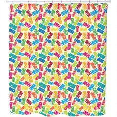 Uneekee We Play Dominoes Shower Curtain