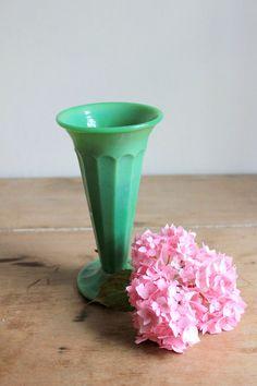 jadeite depression glass | Vintage Jadeite Fluted Green Depression Glass by vommeervintage