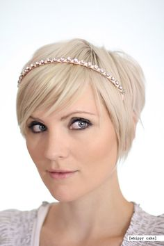 Chunky Crystal Headband  PeachyPink by whippycake on Etsy, $18.00 Love all of her designs. Check out her shop!