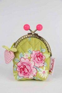 Portmonetka zielona z truskawką Coin Purse, Purses, Wallet, Sewing, Handbags, Dressmaking, Couture, Stitching, Sew