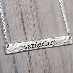 W A N D E R L U S T || this Sterling Silver Necklace is available in our 'Mermaid' Collection || www.indieandharper.com