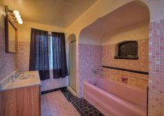 the most amazing pink bathroom i've ever seen! 1702 S Fife St, Tacoma, WA 98405