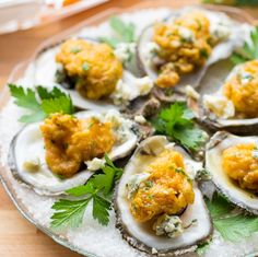 BBQ Oysters with a Blue Cheese Dipping Sauce #recipe via That Oven Feelin http://www.yummly.com/recipe/BBQ-Oysters-with-a-Blue-Cheese-Dipping-Sauce-1567293