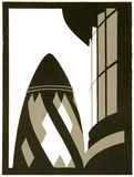 Gherkin - linocut by Paul Catherall