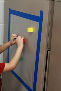 Tips on setting up hands-on wall activities with children who are blind or visually impaired