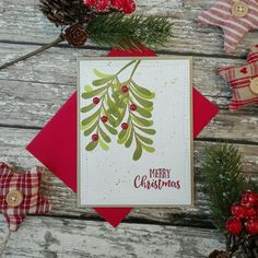 Altenew Layred Laurel & Majestic Mistletoe | Craft For Joy Designs