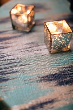 Blue Abstract linen by Creative Coverings, photography by Lindsey Shaun.
