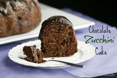 A delicious chocolate zucchini cake you don't have to feel guilty about eating!